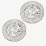 A PAIR OF ROUND CEILING LIGHTS -    - LIVE Auction Celebrating 20th Century Design