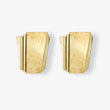 A PAIR OF BRASS WALL SCONCES - LIVE Auction Celebrating 20th Century Design