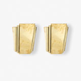 A PAIR OF BRASS WALL SCONCES -    - LIVE Auction Celebrating 20th Century Design