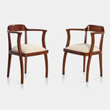 A PAIR OF VINTAGE ARM CHAIRS -    - LIVE Auction Celebrating 20th Century Design