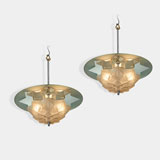 A PAIR OF SUNBURST CEILING LIGHTS -    - LIVE Auction Celebrating 20th Century Design