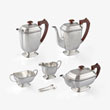 A SILVER TEA AND COFFEE SERVICE, JB CHATTERLEY & SONS LTD, BIRMINGHAM - LIVE Auction Celebrating 20th Century Design