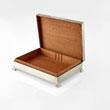 A SILVER CIGARETTE BOX, TURNER & SIMPSON, BIRMINGHAM - LIVE Auction Celebrating 20th Century Design
