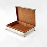 A SILVER CIGARETTE BOX, TURNER & SIMPSON, BIRMINGHAM -    - LIVE Auction Celebrating 20th Century Design