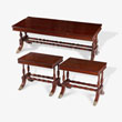 A SET OF PERIOD COFFEE TABLES - LIVE Auction Celebrating 20th Century Design
