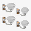 A SET OF FOUR STUNNING ART DECO WALL LIGHTS - LIVE Auction Celebrating 20th Century Design