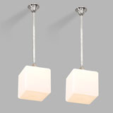 A PAIR OF ART DECO PENDANT LIGHTS -    - LIVE Auction Celebrating 20th Century Design
