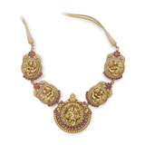 A GOLD REPOUSSE NECKLACE -    - Online Auction of Fine Jewels and Silver