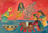 Homage to the Flowering Pot - Badri  Narayan - Modern Masters on Paper: LIVE Auction