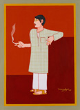 Untitled - Lalu Prasad Shaw - Modern Masters on Paper: LIVE Auction