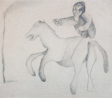 Last Journey - Manjit  Bawa - Modern Masters on Paper: LIVE Auction