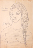 Untitled (Fatima) - F N Souza - Modern Masters on Paper: LIVE Auction