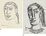 Untitled (Early Portraits) - F N Souza - Modern Evening Sale | New Delhi, Live