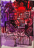 Untitled (Townscape with Church) - F N Souza - Modern Evening Sale | New Delhi, Live