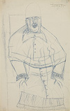 Untitled (Pope) - F N Souza - Summer Online Auction