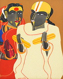 Telangana Couple - 1 - Thota  Vaikuntam - Summer Online Auction