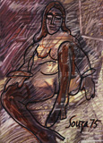 Untitled - F N Souza - Modern and Contemporary Indian Art