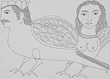 Pair of Kinnaras - Badri  Narayan - 24 Hour Online Auction: Works on paper