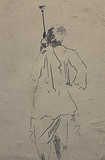 Smoking Hoka - Gaganendranath  Tagore - 24 Hour Online Auction: Works on paper