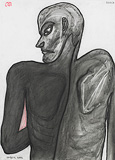 Dark Man from back - Jogen  Chowdhury - 24 Hour Online Auction: Works on paper