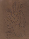 Untitled - Krishen  Khanna - 24 Hour Online Auction: Works on paper