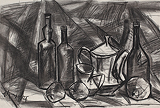 Jugs, Bottles and Fruits - I - K M Adimoolam - 24 Hour Online Auction: Works on paper