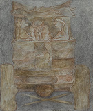 Untitled - Krishen  Khanna - 24 Hour Online Auction: Works on paper