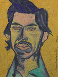 Untitled (Portrait of C.K. Rajan) - Surendran  Nair - 24 Hour Online Auction: Works on paper