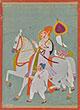 A MAHARAJA RIDING AN ADORNED STALLION - Classical Indian Art
