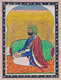 PORTRAIT OF A SIKH PRINCE -    - Classical Indian Art