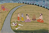 AN ILLUSTRATION TO THE RAMAYANA -    - Classical Indian Art