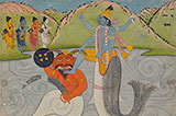 MATSYA AVATAR, THE FIRST INCARNATION OF VISHNU -    - Classical Indian Art