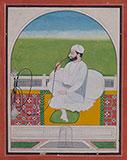 PORTRAIT OF A SIKH NOBLEMAN -    - Classical Indian Art
