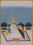 PORTRAIT OF A RULER OF A RAJPUT ROYAL FAMILY <br><i>attributable to the artist Amar Chand</i> -    - Classical Indian Art