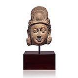 HEAD OF A BODHISATTVA OR DEITY -    - Classical Indian Art