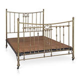 AN EARLY 20th CENTURY BRASS BED -    - 20th Century Design
