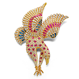 AN IMPRESSIVE 'FALCON' BROOCH -    - Online Auction of Fine Jewels and Silver