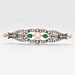 A DIAMOND, EMERALD AND PEARL BROOCH - Online Auction of Fine Jewels and Silver