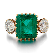 AN EMERALD AND DIAMOND RING - Online Auction of Fine Jewels and Silver