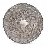 A MAGNIFICENT SILVER REPOUSSE TRAY, OOMERSI MAWJI -    - Online Auction of Fine Jewels and Silver