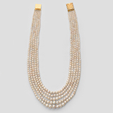 A FIVE ROW NATURAL PEARL NECKLACE -    - Online Auction of Fine Jewels and Silver