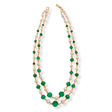 AN EMERALD AND PEARL NECKLACE -    - Online Auction of Fine Jewels and Silver