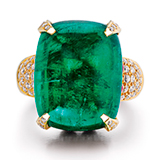 AN EMERALD, RUBY AND DIAMOND RING -    - Online Auction of Fine Jewels and Silver