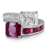AN IMPORTANT RUBY AND DIAMOND RING -    - Online Auction of Fine Jewels and Silver