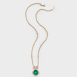AN EMERALD AND DIAMOND PENDANT BY GYAN -    - Online Auction of Fine Jewels and Silver