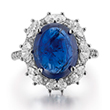 A BURMESE SAPPHIRE AND DIAMOND RING - Online Auction of Fine Jewels and Silver