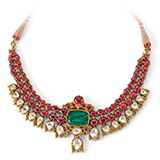 A RUBY, EMERALD AND DIAMOND NECKLACE -    - Online Auction of Fine Jewels and Silver