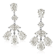 A PAIR OF DIAMOND EAR PENDANTS - Online Auction of Fine Jewels and Silver