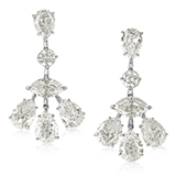 A PAIR OF DIAMOND EAR PENDANTS -    - Online Auction of Fine Jewels and Silver