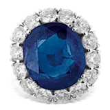 A SAPPHIRE AND DIAMOND RING -    - Online Auction of Fine Jewels and Silver